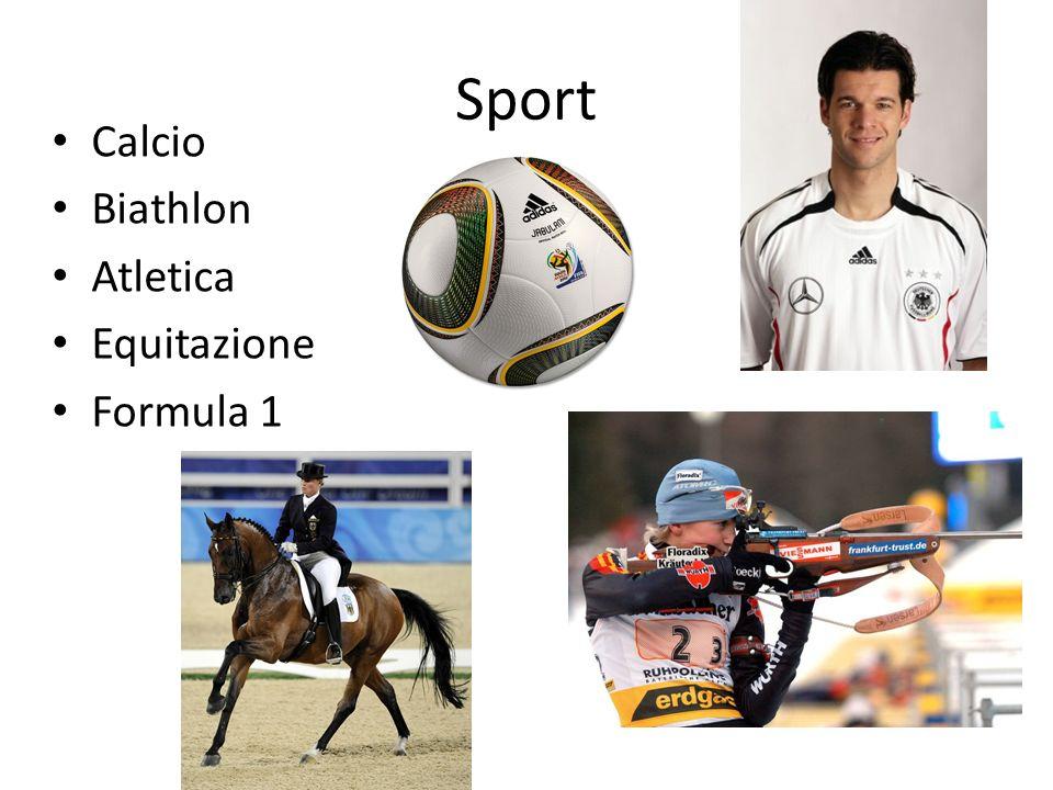 Sport Calcio Biathlon Atletica Equitazione Formula 1