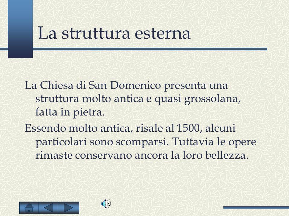 San Domenico E raffigurato San Domenico con otto storie ai lati.