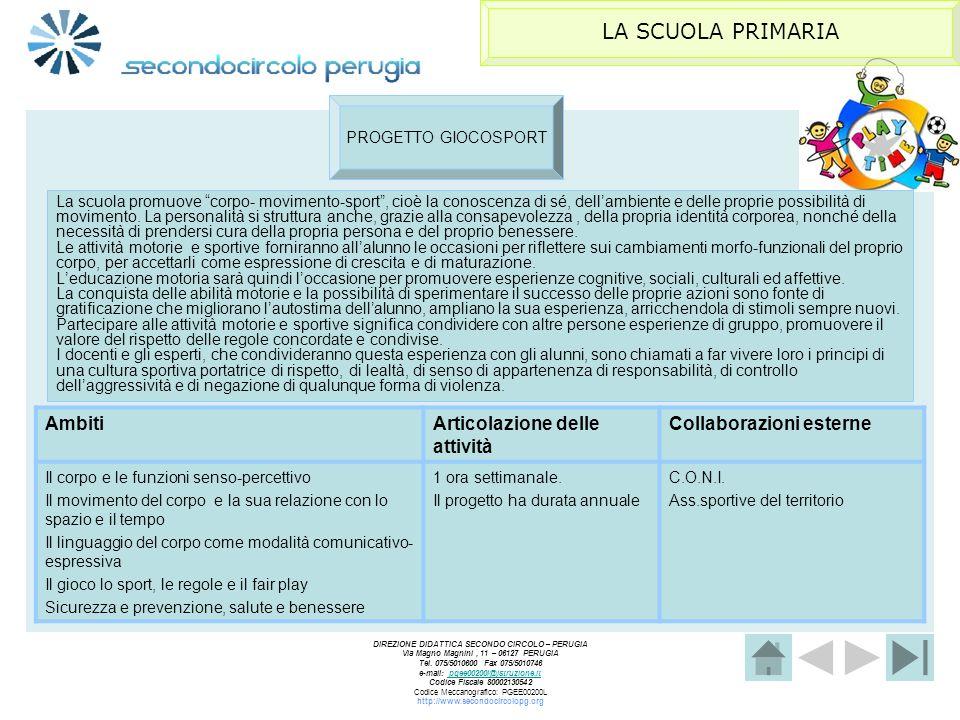 DIREZIONE DIDATTICA SECONDO CIRCOLO – PERUGIA Via Magno Magnini, 11 – 06127 PERUGIA Tel.