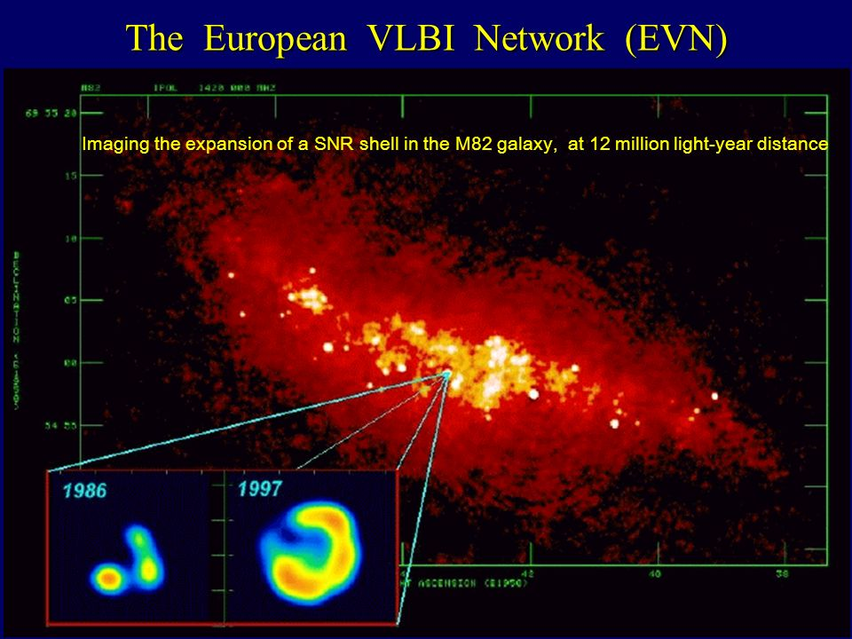 The European VLBI Network (EVN) Imaging the expansion of a SNR shell in the M82 galaxy, at 12 million light-year distance