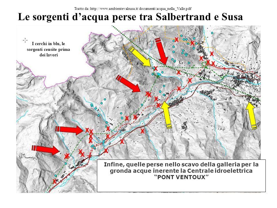 Le sorgenti dacqua perse tra Salbertrand e Susa Quelle perse durante i lavori di raddoppio della linea ferroviaria anni 1980\90 Tratto da: http://www.