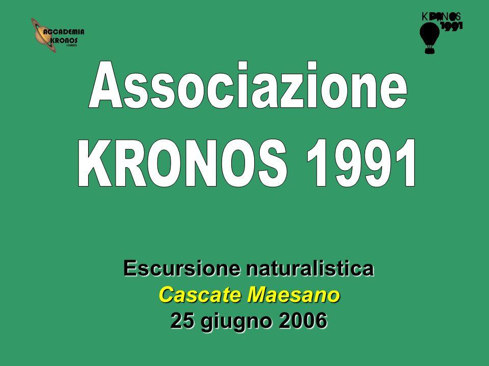 Escursione naturalistica Cascate Maesano 25 giugno 2006