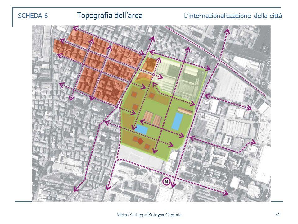 Metrò Sviluppo Bologna Capitale 31 SCHEDA 6 Topografia dellarea Linternazionalizzazione della città