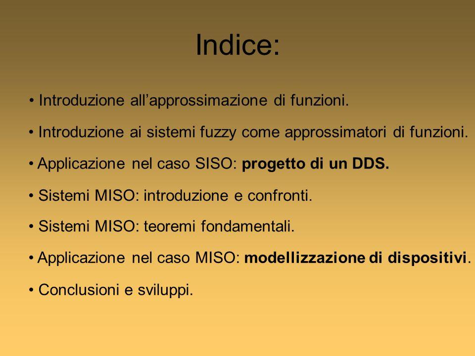Indice: Introduzione allapprossimazione di funzioni.