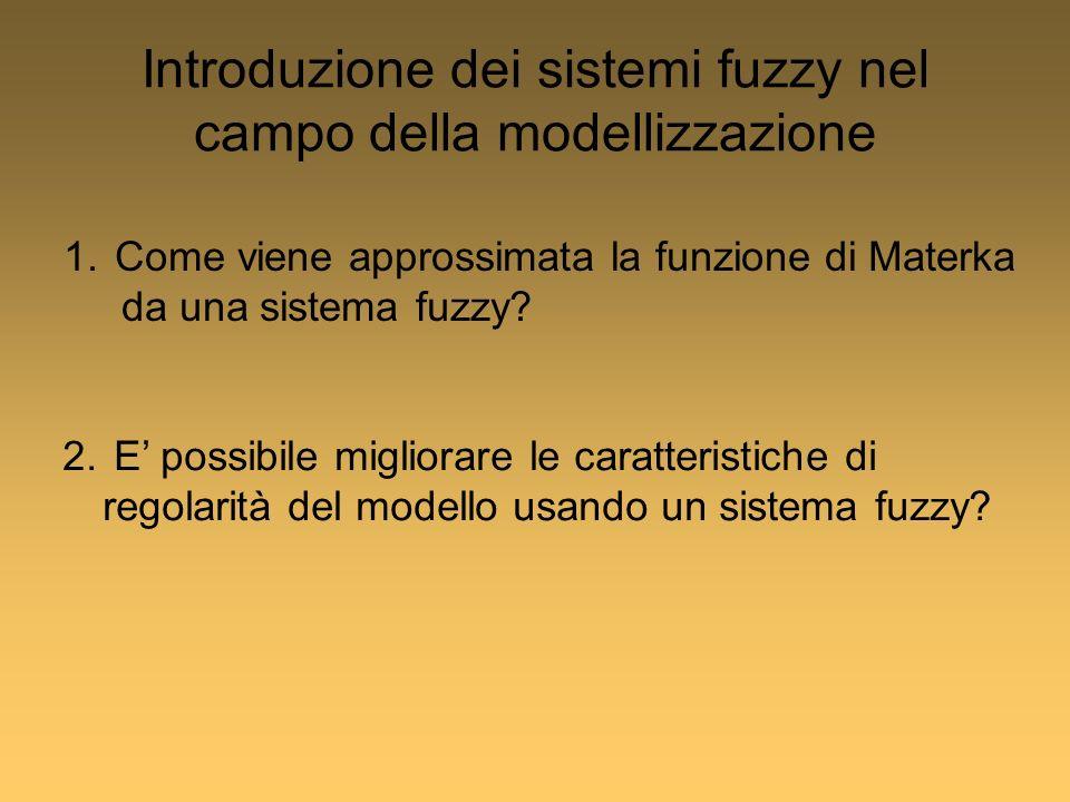 Introduzione dei sistemi fuzzy nel campo della modellizzazione 1.