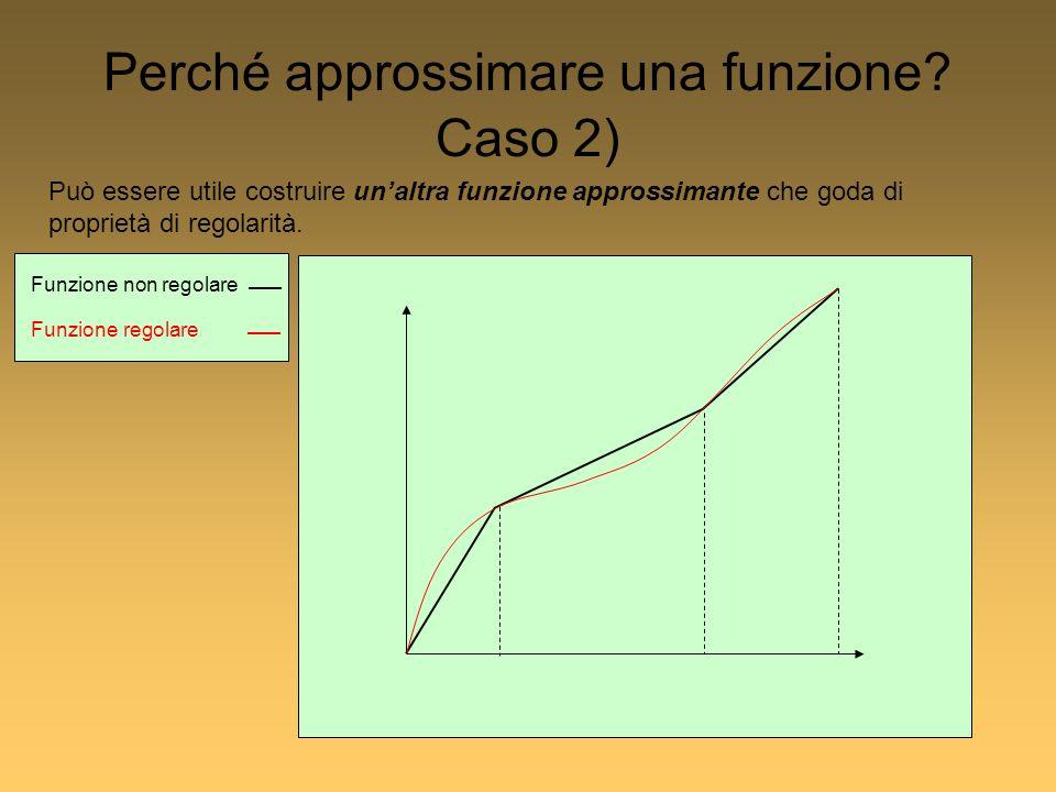 Può essere utile costruire unaltra funzione approssimante che goda di proprietà di regolarità.