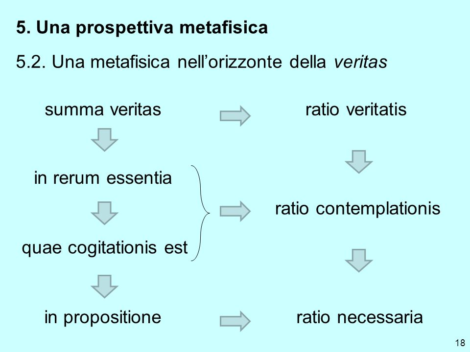 18 5. Una prospettiva metafisica 5.2.