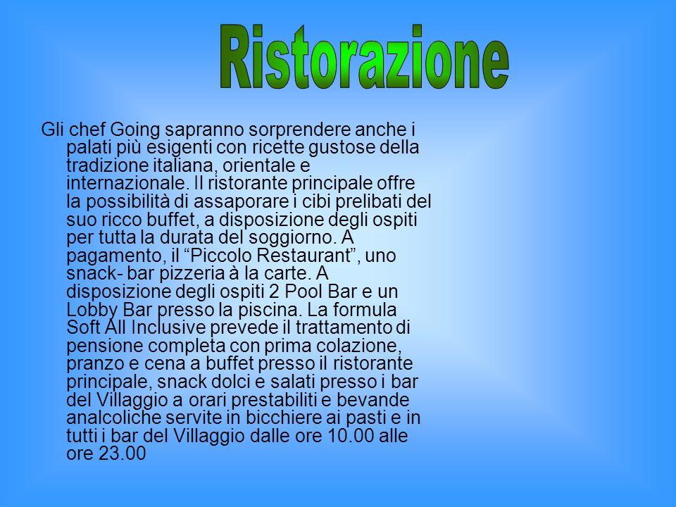 Gli chef Going sapranno sorprendere anche i palati più esigenti con ricette gustose della tradizione italiana, orientale e internazionale.