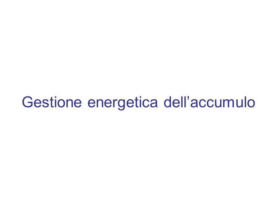 Gestione energetica dellaccumulo