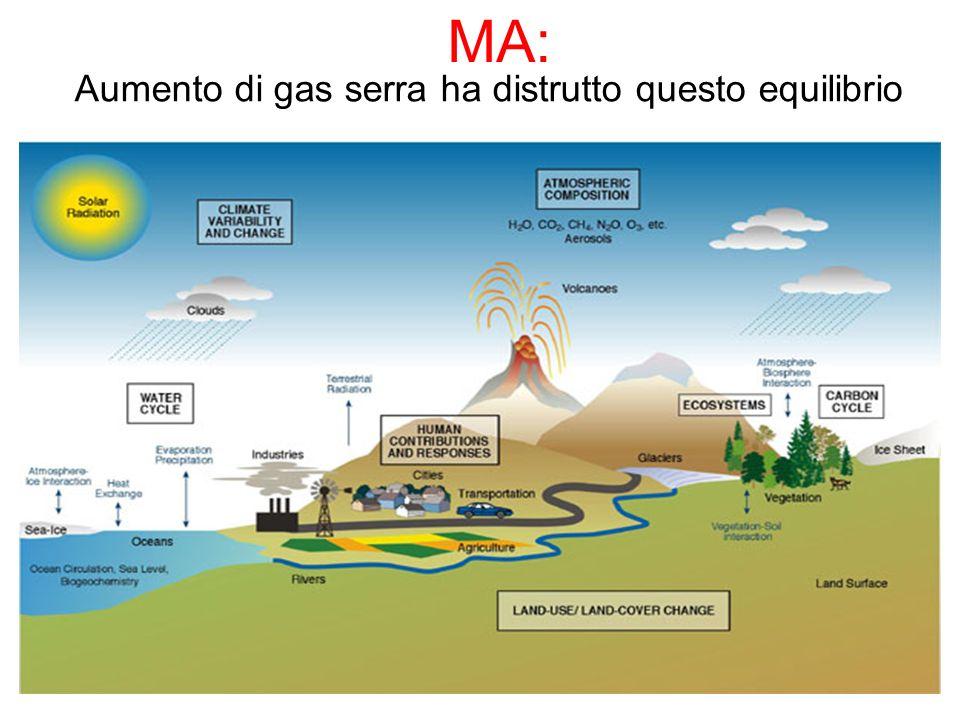 Aumento di gas serra ha distrutto questo equilibrio MA: