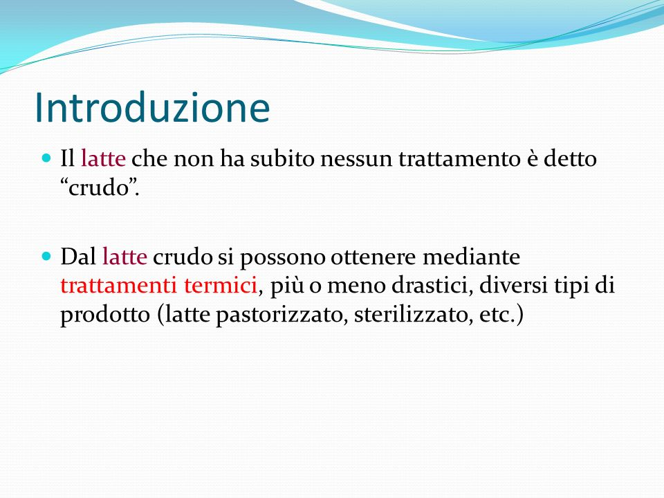 Eiezione del latte Specie Capra Pecora Vacca Bufala Latte cisternale 80% 50% 25% 5% Latte alveolare 20% 50% 75% 95%