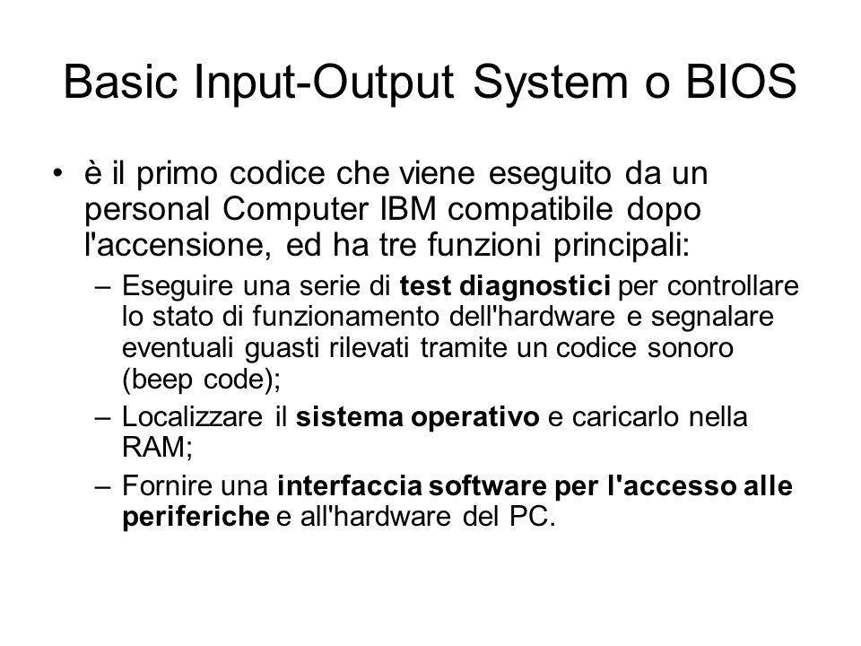 Firmware sulle schede di espansione Un computer può contenere diversi chip contenenti BIOS firmware.