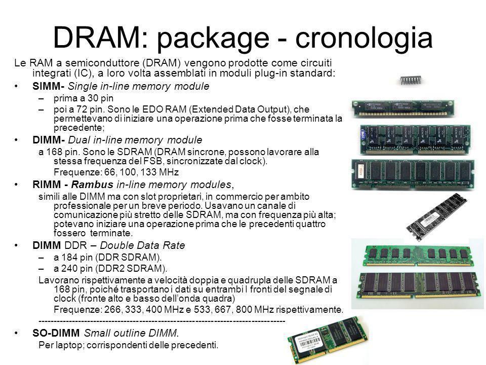 RAM: tipo SDRAM Sincronous Dinamic Random Access Memory, ovvero DRAM sincrone.