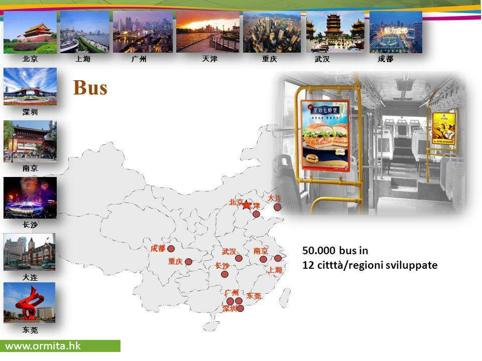 www.ormita.hk Bus 50.000 bus in 12 citttà/regioni sviluppate