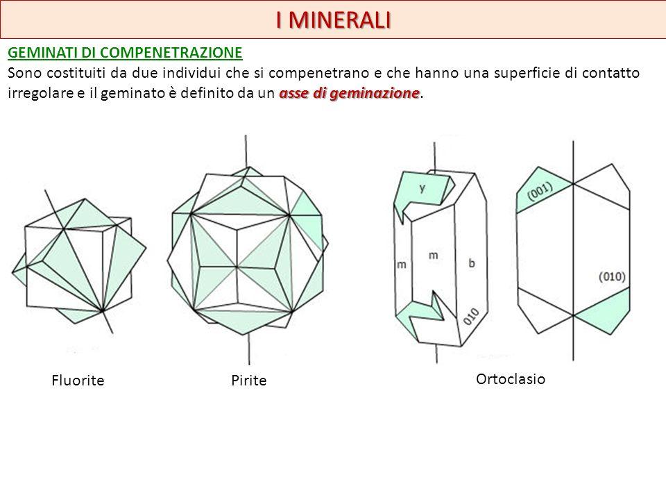 I MINERALI geminato polisintetico GEMINATI RIPETUTI O MULTIPLI: sono costituiti da tre o più parti geminate secondo la stessa legge.