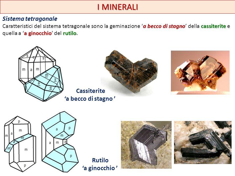 I MINERALI Sistema esagonale carbonaticalcite Esempi sono forniti dal gruppo dei carbonati e specialmente dalla calcite.
