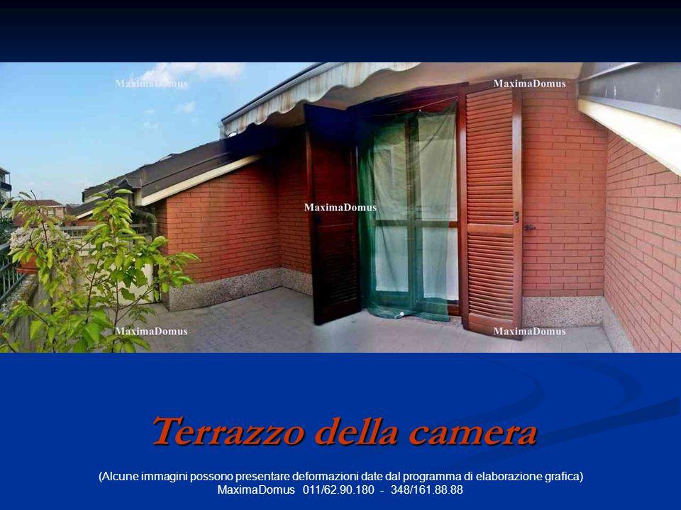 (Alcune immagini possono presentare deformazioni date dal programma di elaborazione grafica) MaximaDomus 011/62.90.180 - 348/161.88.88 Terrazzo della camera