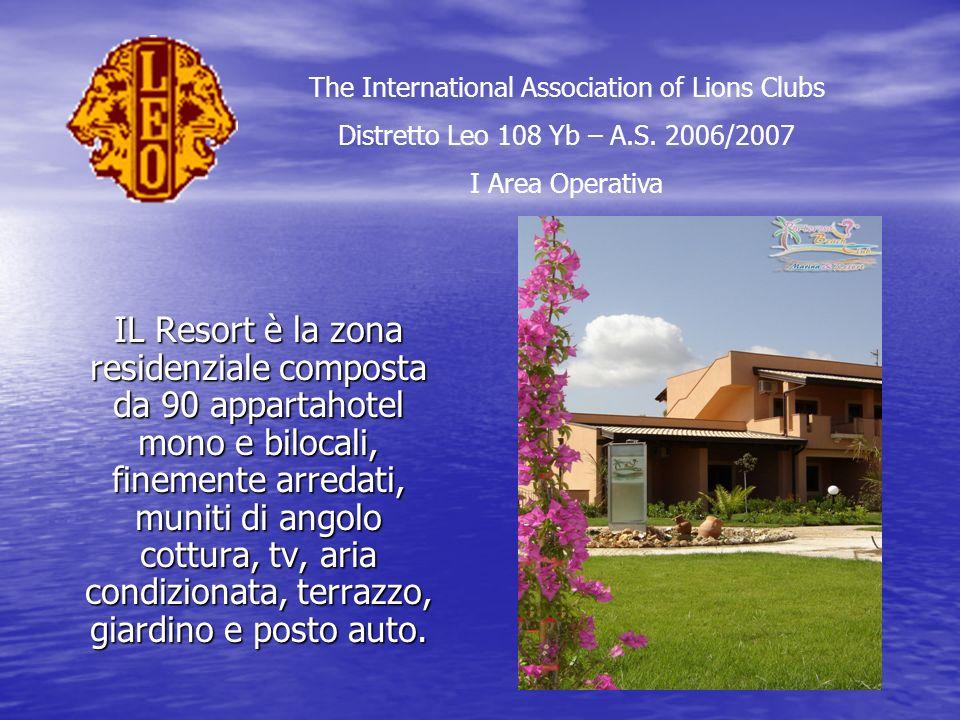 IL Resort è la zona residenziale composta da 90 appartahotel mono e bilocali, finemente arredati, muniti di angolo cottura, tv, aria condizionata, terrazzo, giardino e posto auto.