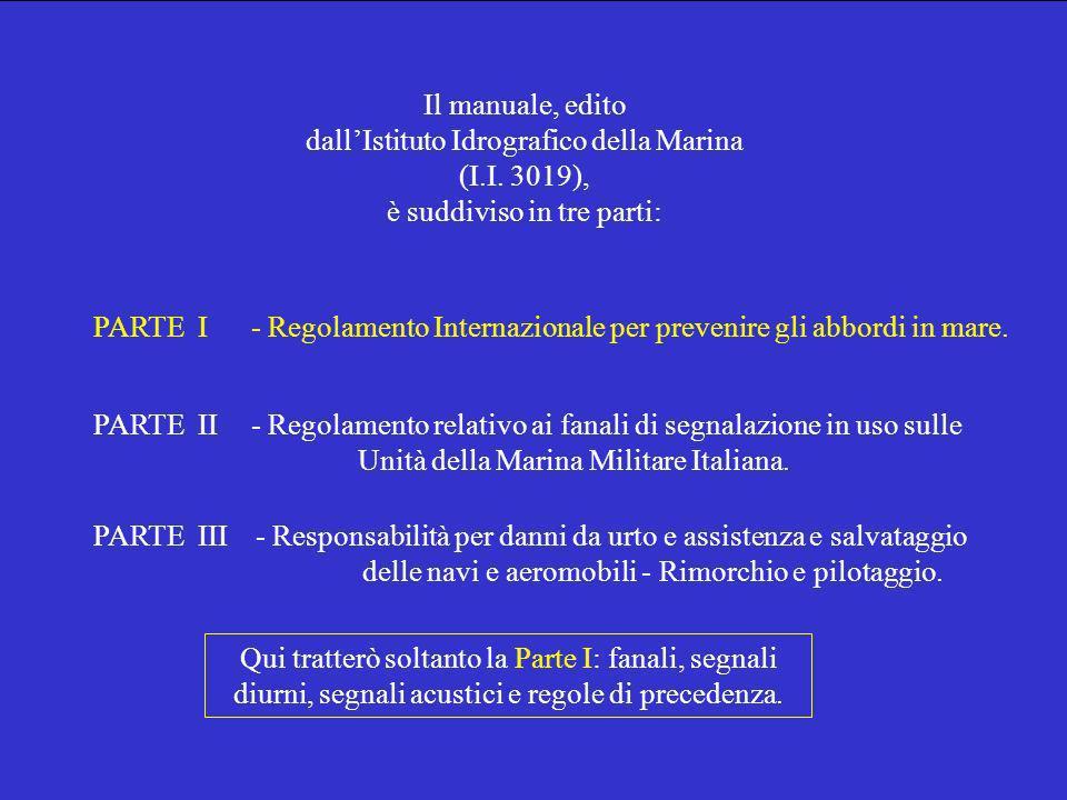 Il manuale, edito dallIstituto Idrografico della Marina (I.I.
