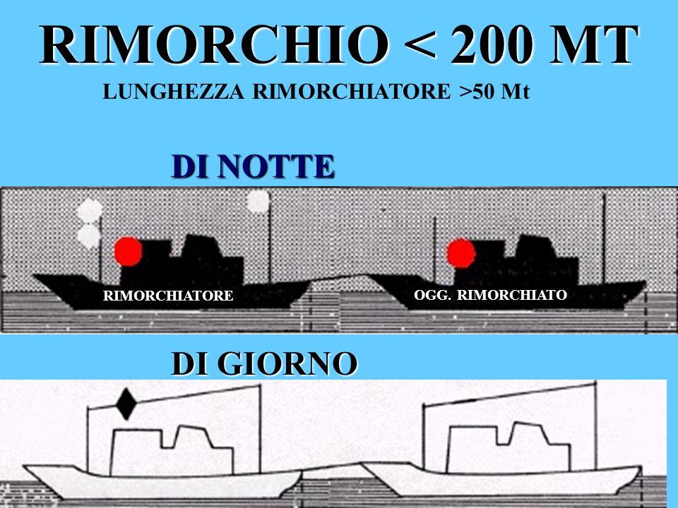 RIMORCHIO < 200 MT LUNGHEZZA RIMORCHIATORE >50 Mt DI NOTTE DI GIORNO RIMORCHIATORE OGG. RIMORCHIATO