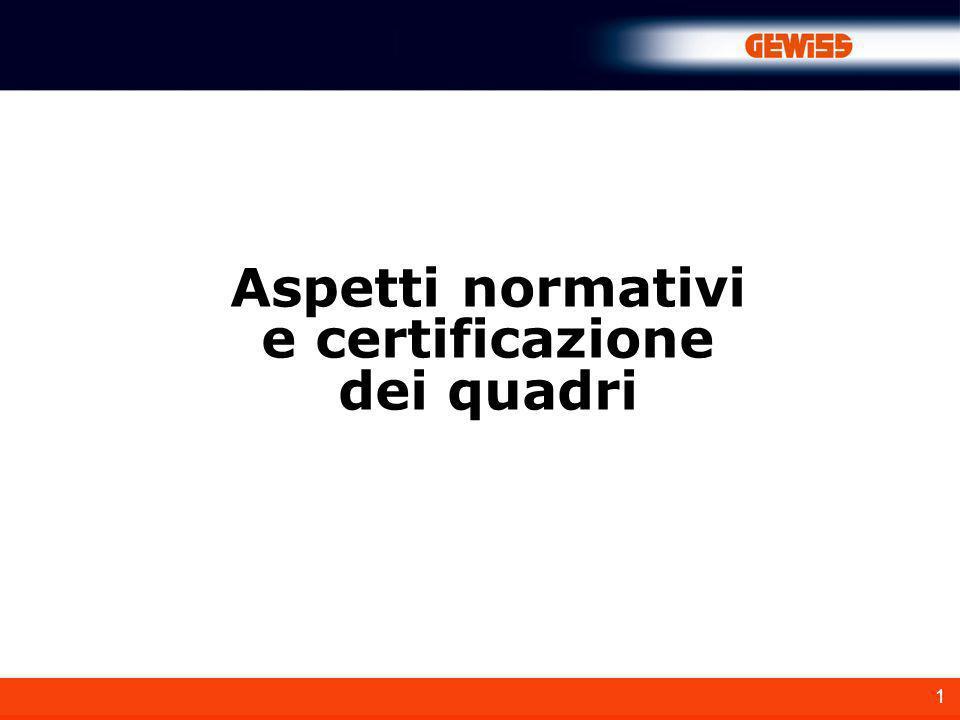 1 Aspetti normativi e certificazione dei quadri