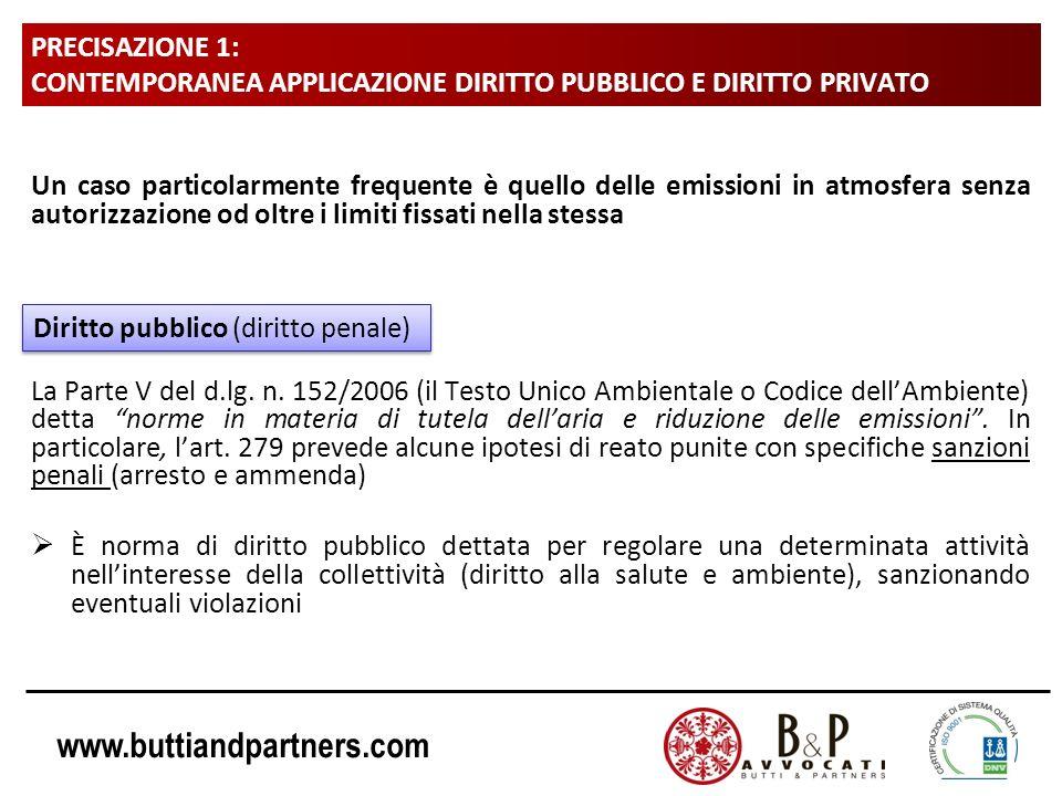 www.buttiandpartners.com PRECISAZIONE 1: CONTEMPORANEA APPLICAZIONE DIRITTO PUBBLICO E DIRITTO PRIVATO Un caso particolarmente frequente è quello dell