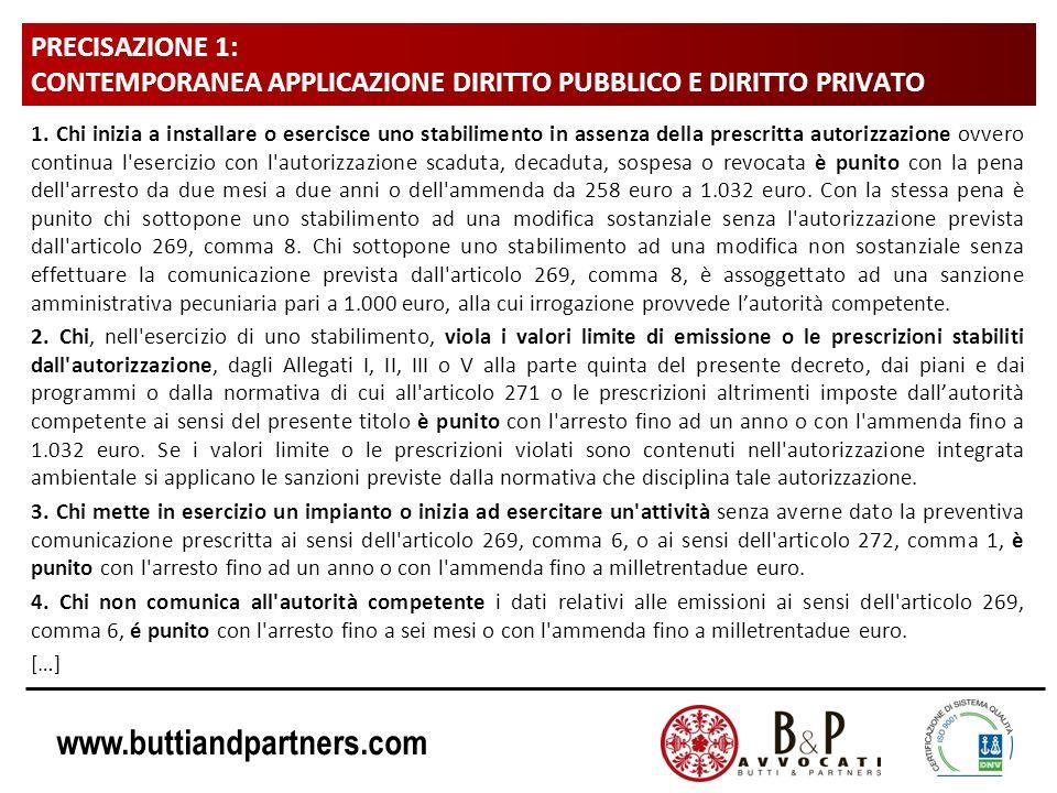 www.buttiandpartners.com PRECISAZIONE 1: CONTEMPORANEA APPLICAZIONE DIRITTO PUBBLICO E DIRITTO PRIVATO 5.