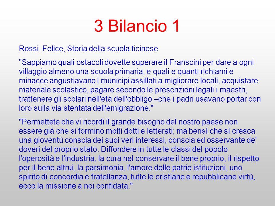 3 Bilancio 1 Rossi, Felice, Storia della scuola ticinese