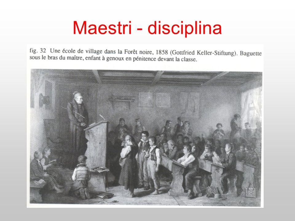 Maestri - disciplina