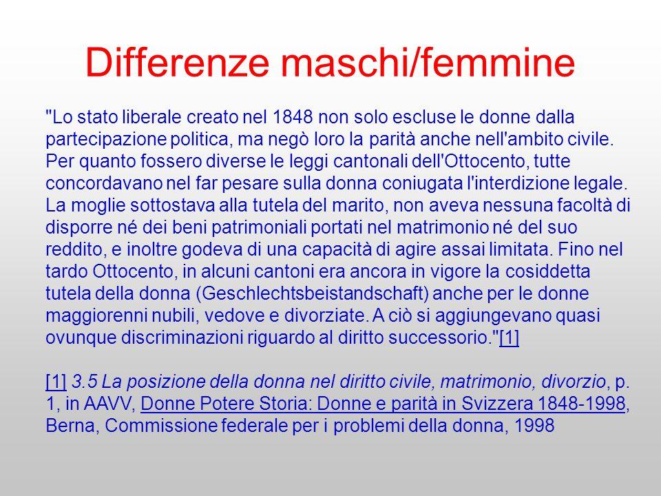 Differenze maschi/femmine