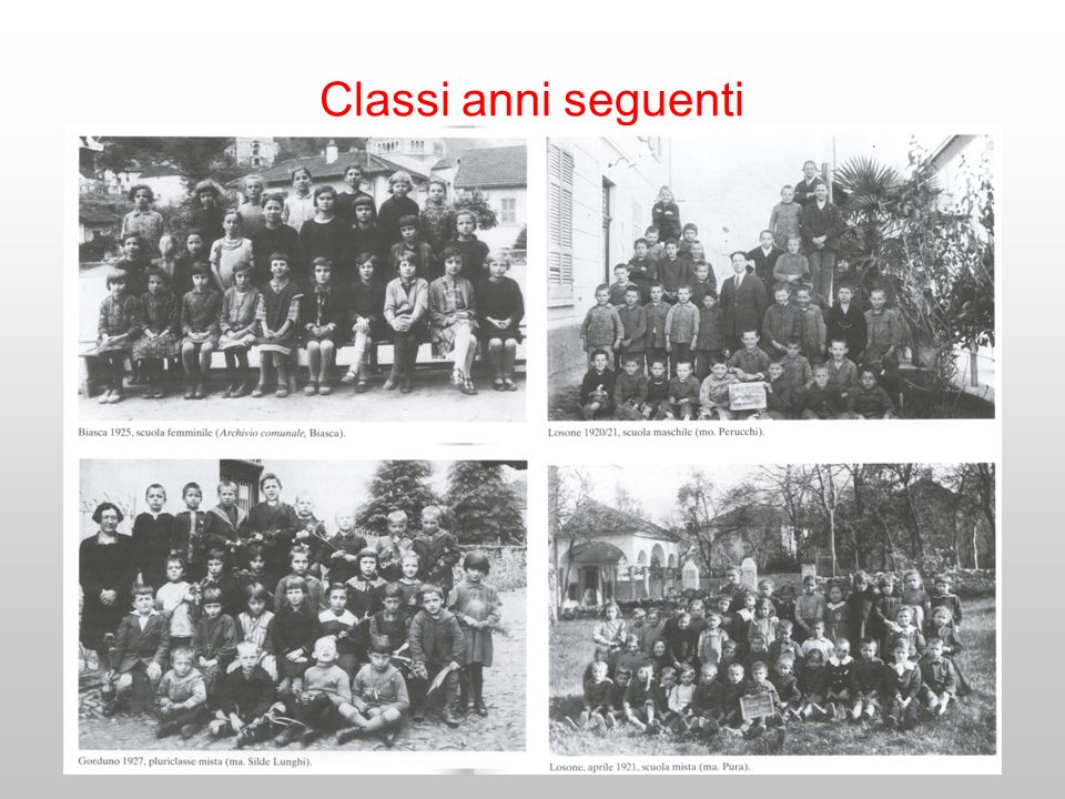 Classi anni seguenti