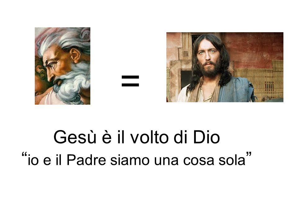 = Gesù è il volto di Dio io e il Padre siamo una cosa sola