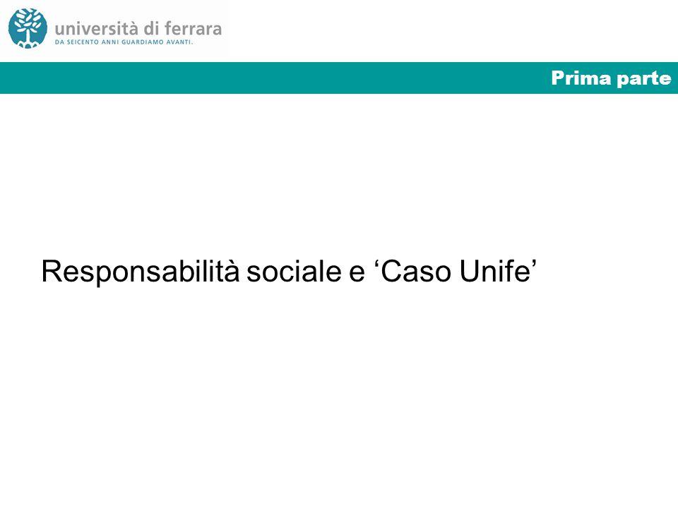 Prima parte Responsabilità sociale e Caso Unife