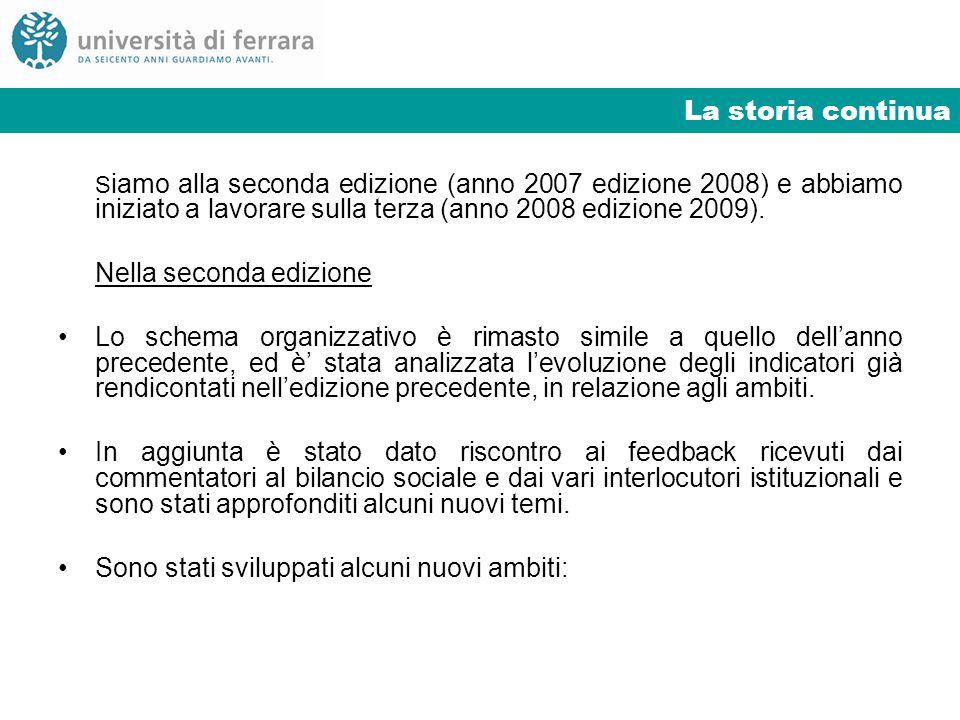 La storia continua S iamo alla seconda edizione (anno 2007 edizione 2008) e abbiamo iniziato a lavorare sulla terza (anno 2008 edizione 2009). Nella s