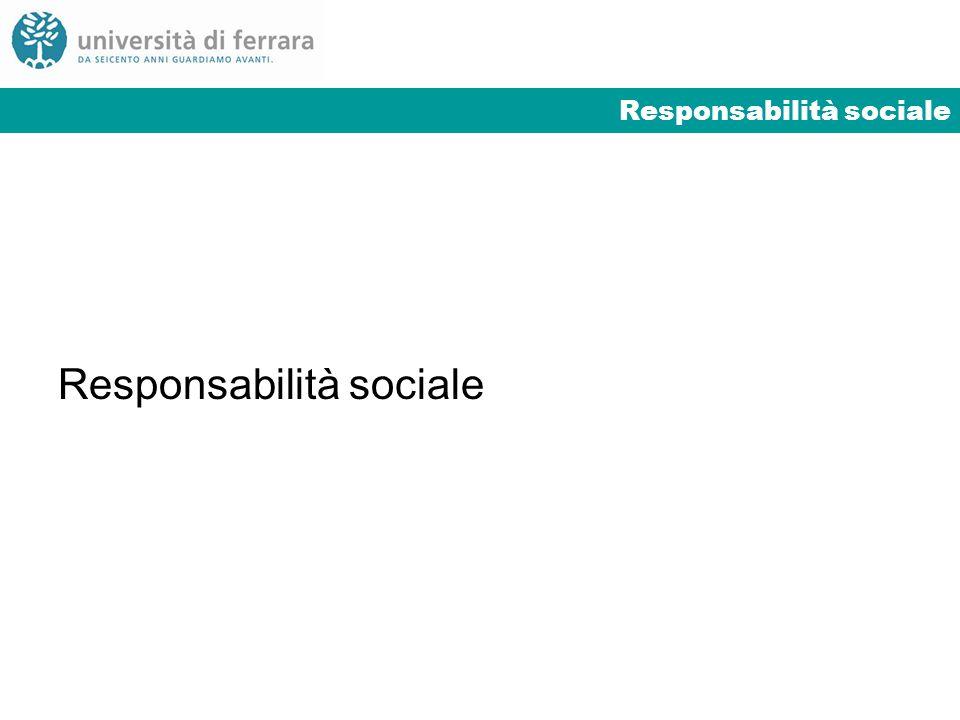 Responsabilità sociale