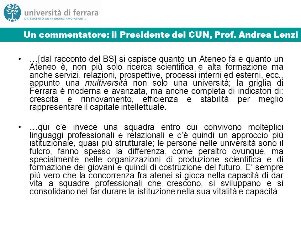 Un commentatore: il Presidente del CUN, Prof.