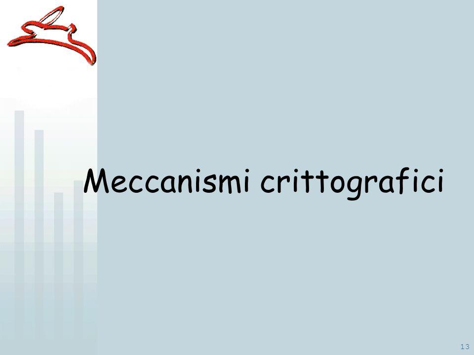 13 Meccanismi crittografici