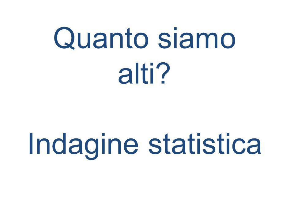 Quanto siamo alti? Indagine statistica