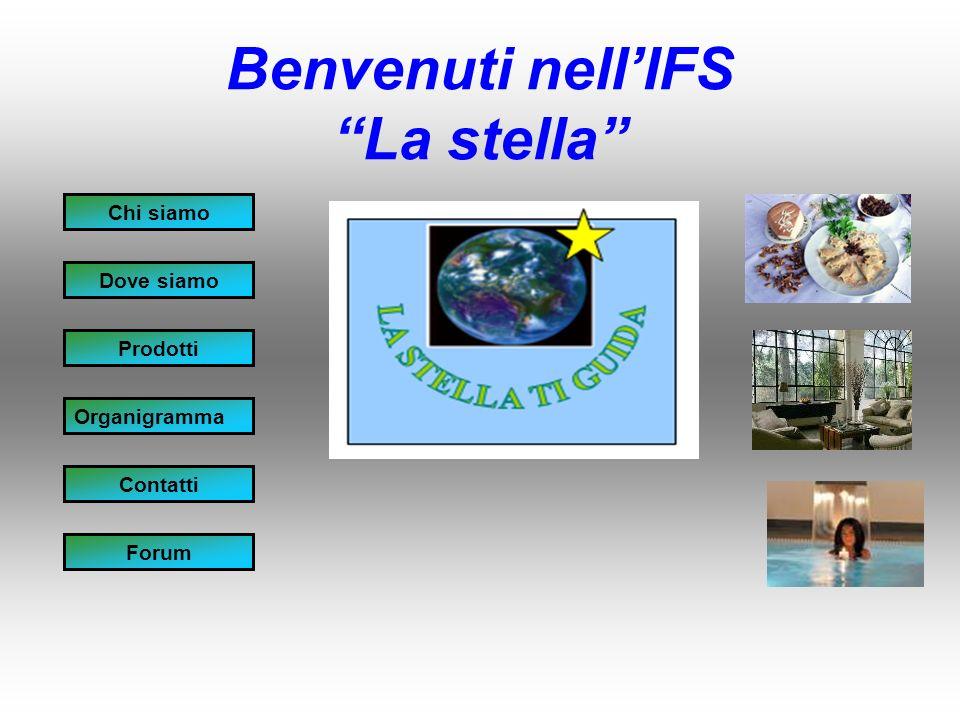 Benvenuti nellIFS La stella Chi siamo Dove siamo Prodotti Organigramma Contatti Forum