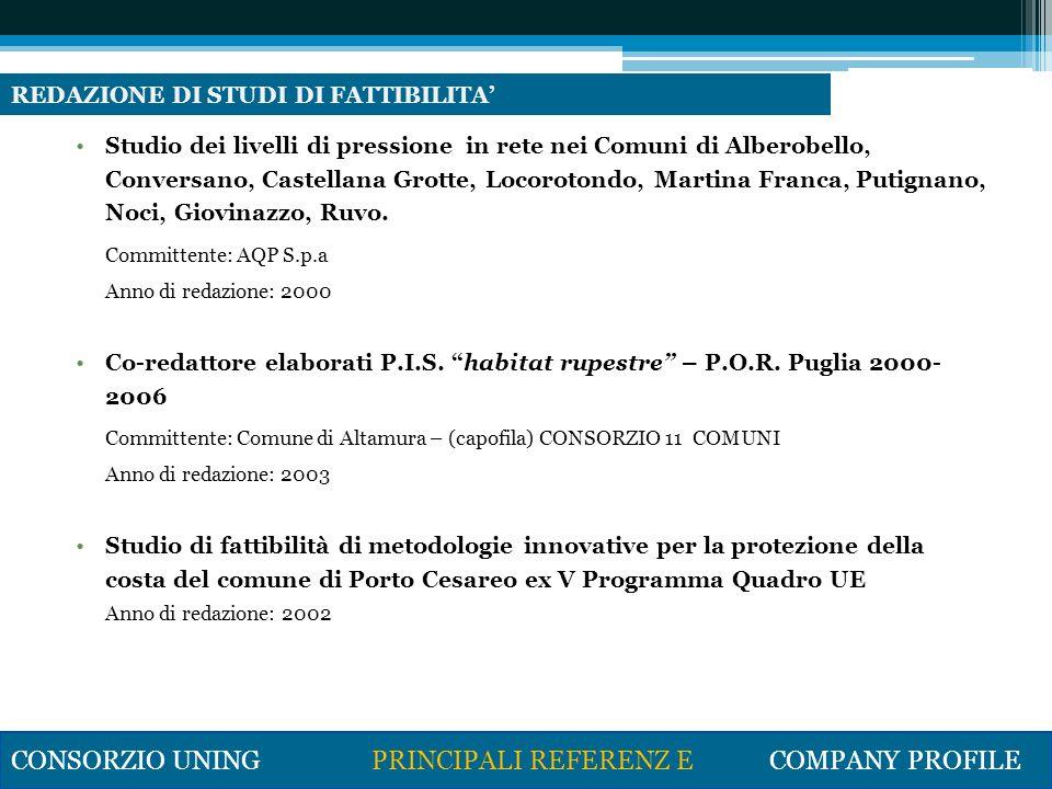 Gestione di progetti di ricerca aziendale (INGEP S.p.A., Sogel S.p.A.) Gestione dei progetti di ricerca finanziati con fondi INTERREG IIIA A.D.A.