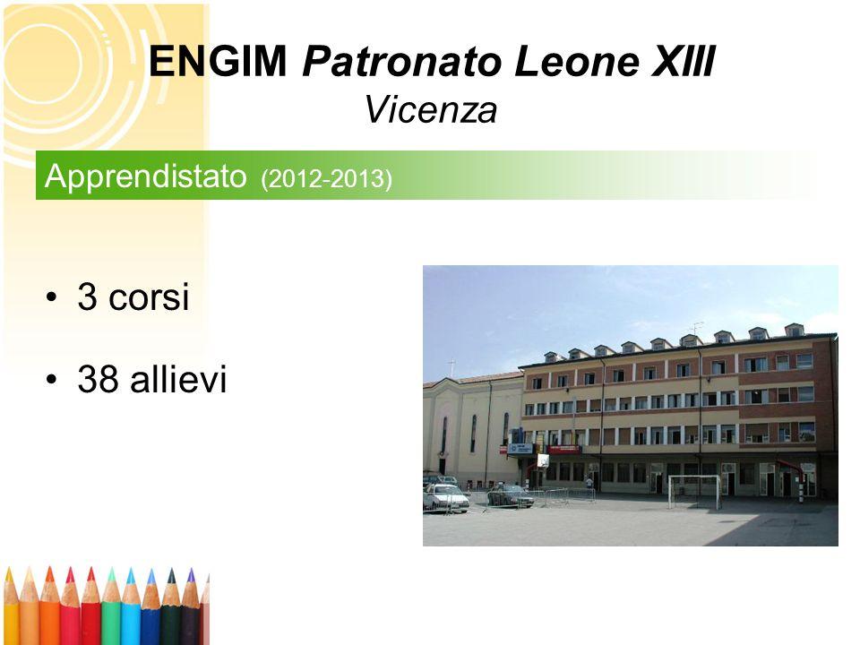 3 corsi 38 allievi Apprendistato (2012-2013) ENGIM Patronato Leone XIII Vicenza
