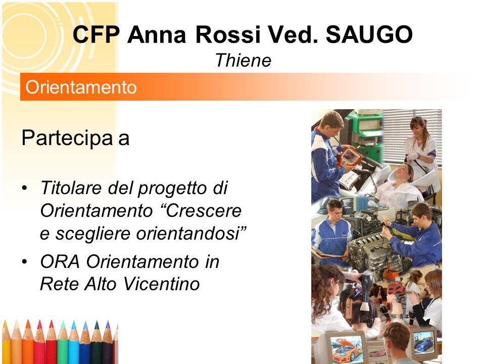 Partecipa a Titolare del progetto di Orientamento Crescere e scegliere orientandosi ORA Orientamento in Rete Alto Vicentino Orientamento CFP Anna Ross