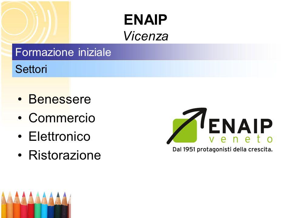 ENAIP Vicenza Benessere Commercio Elettronico Ristorazione Settori Formazione iniziale