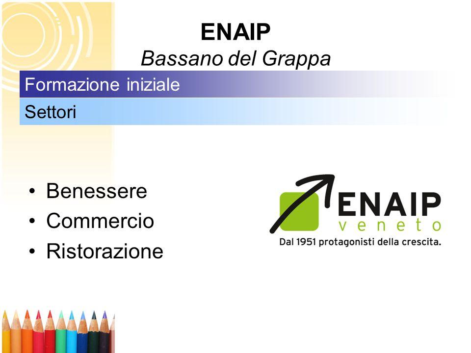 ENAIP Bassano del Grappa Benessere Commercio Ristorazione Settori Formazione iniziale