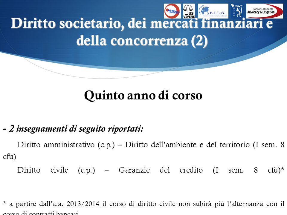 Piano Libero (1) Quarto anno di corso -1 insegnamento a scelta tra i seguenti: Diritto costituzionale (c.p.) – Diritto pubblico delleconomia (I sem.