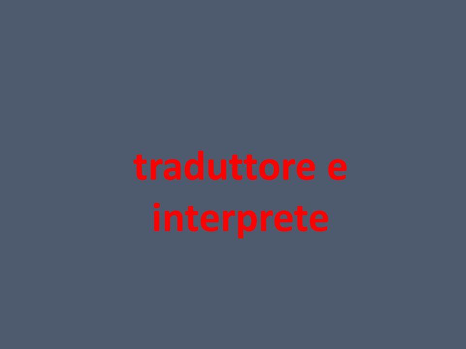 traduttore e interprete