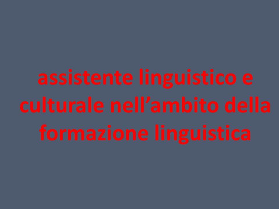 assistente linguistico e culturale nellambito della formazione linguistica