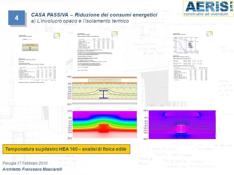 Tamponatura su pilastro HEA 160 – analisi di fisica edile 4 4 CASA PASSIVA – Riduzione dei consumi energetici a) Linvolucro opaco e lisolamento termic