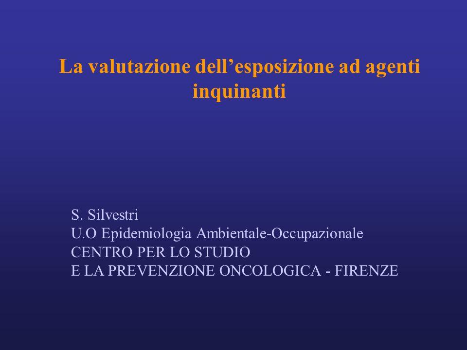 La valutazione dellesposizione ad agenti inquinanti S.