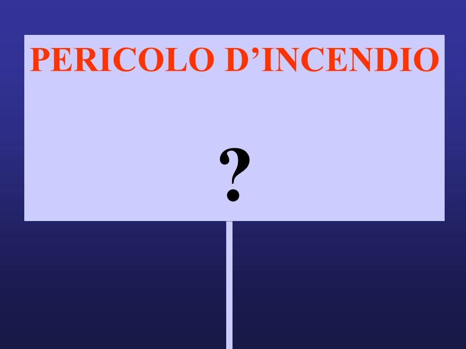 PERICOLO DINCENDIO